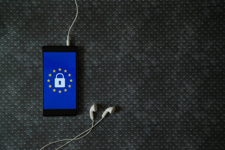 Mobile Phone with GDPR logo